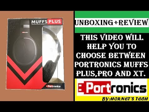 PORTRONICS MUFFS PLUS WIRELESS HEADPHONE UNBOXING+REVIEW|REMOVE CONFUSION IN MUFFS PRO,XT AND PLUS?