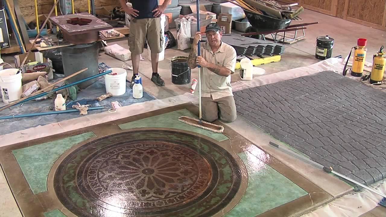 Concrete floor wax youtube for Mop on concrete floor wax