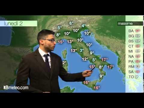 Previsioni meteo Video per lunedi, 02 dicembre