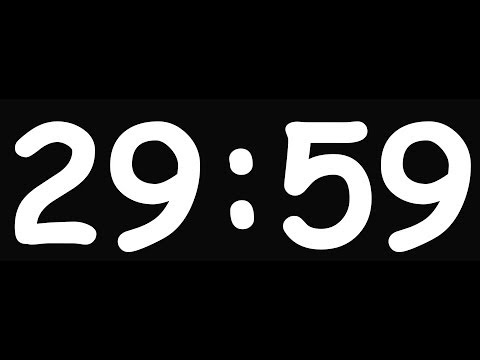 30 Minutes Countdown ( V 100 ) 4k Clock Timer With Sound   Film Music Cinematic! video