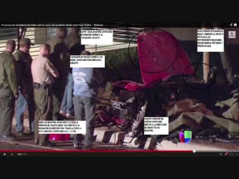 Paul Walker accident reconstruction scene, crash and die