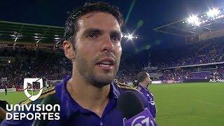 Entre lágrimas, Kaká se despidió del Orlando City