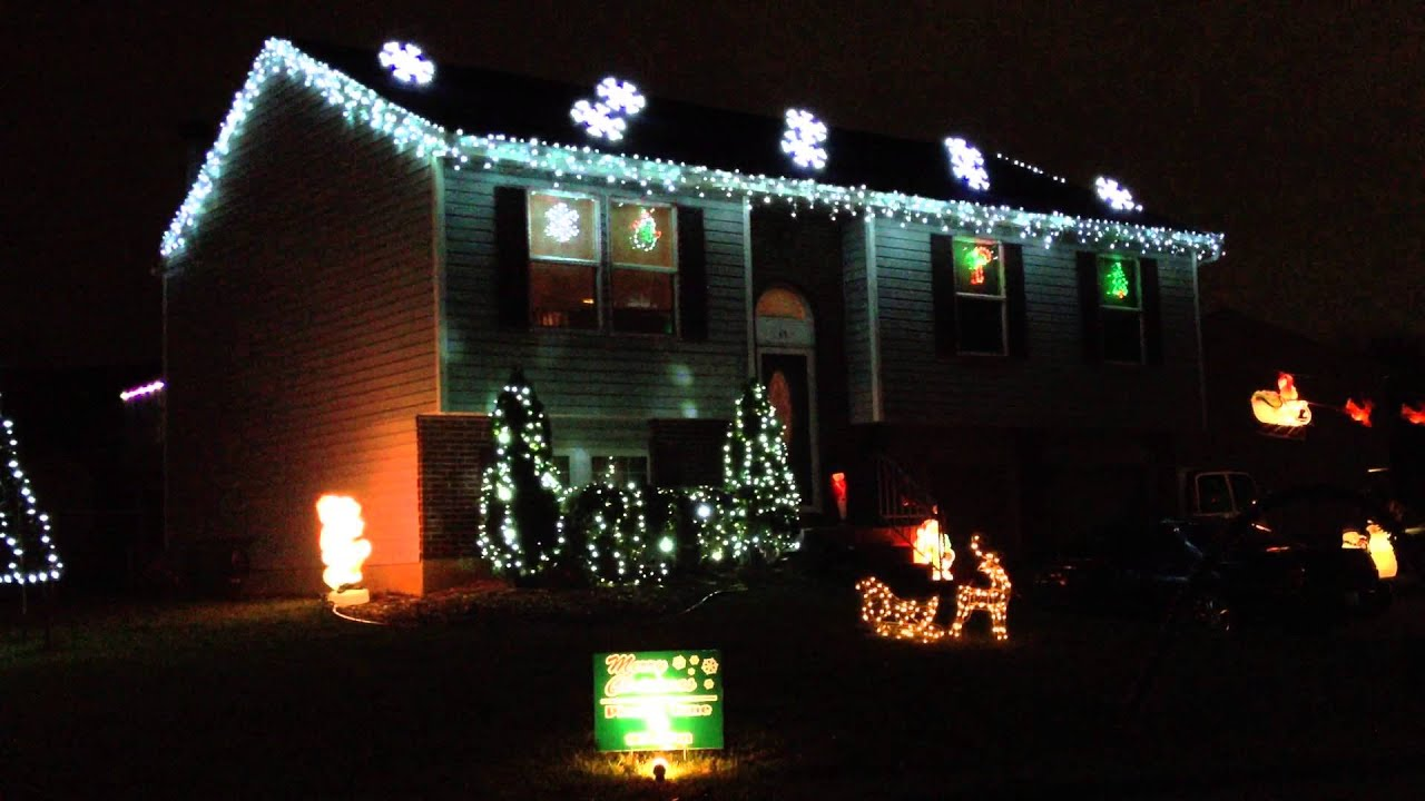 Christmas lights set to music of trans siberian orchestra for Amazing house music