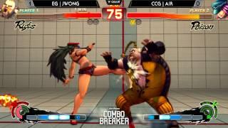 Combo Breaker - EG | Jwong (Rufus) Vs. CCG | Air (Poison) USFIV WQ - Ultra Street Fighter IV