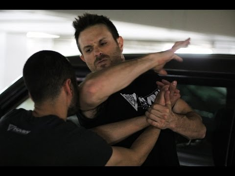 Choke Against the Wall Defense - Krav Maga Technique - KMW Krav Maga Self Defense w/ AJ Draven Image 1