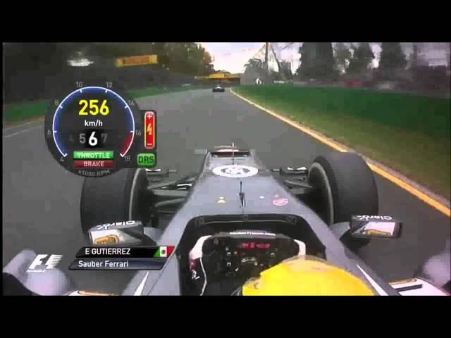 F1 2013 - Australien - Esteban Gutierrez + Massa´s Pit Stop Onboard - Race