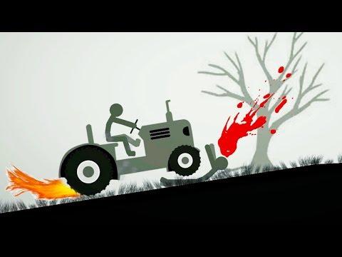 БЕШЕНЫЙ СТИКМЕН на машинках в смешной игре для детей на Android от FGTV