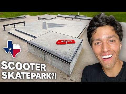 This is what a SCOOTER SKATEPARK Looks Like