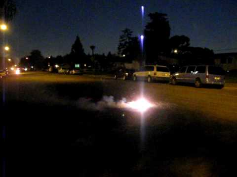 unsafe illegal fireworks explode on orizaba st. Video