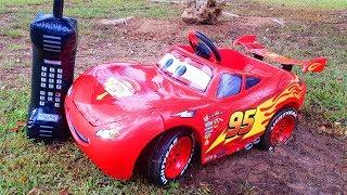 Funny Baby Red Car stuck in the mud Ride On POWEL WHEEL Car Щенячий Патруль