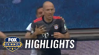 Arjen Robben scores winning goal for Bayern Munich | 2016-17 Bundesliga Highlights