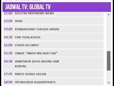 Jadwal TV: GLOBAL TV - 12 Juli 2014