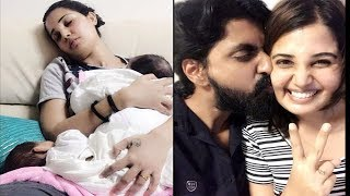 Chinnathambi Prajin-santra Twin Baby Girls Stills For Mothers Day special