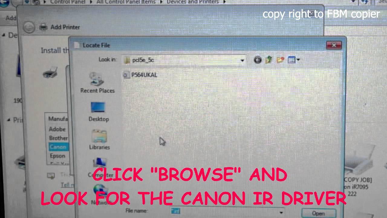 how to add priunter driver canon mac