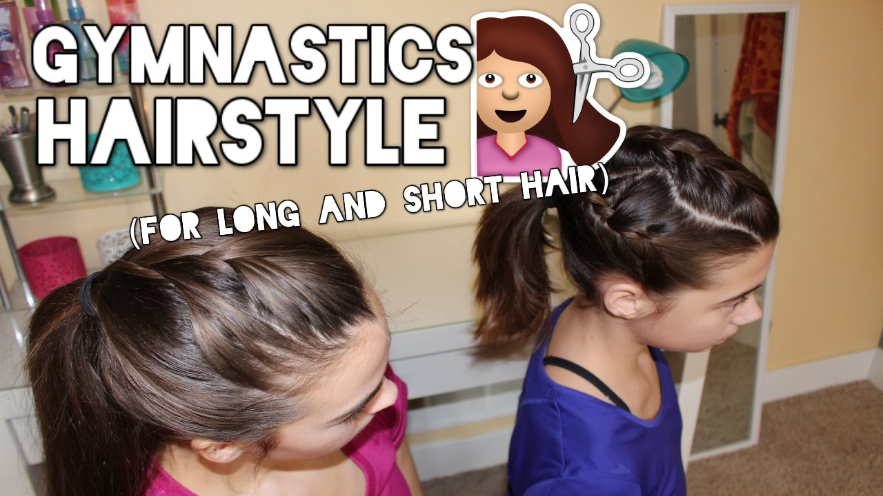Hairstyles For Long Hair Gymnastics : Gymnastics Hairstyle for Long and Short Hair! - YouTube