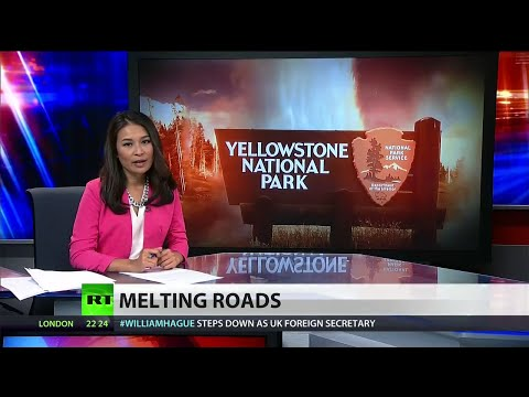 Yellowstone supervolcano sparks fears of eruption after melting park's roads