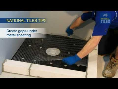 How to Screed the Shower Base: National Tiles DIY Tiling 14