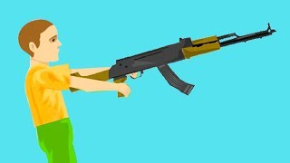 4 YEAR OLD KID WITH A GUN! (Happy Wheels)