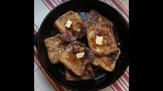Cast Iron Skillet French Toast |  Simple Breakfast Idea