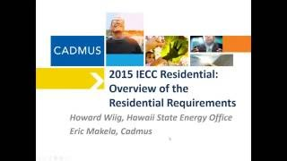 2015 IECC Recorded Webinar: Residential Requirements