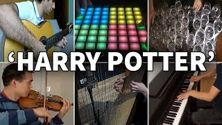 Who Played It Better: Harry Potter Theme (Glasses Of Water, Piano, Guitar, Violin, Launchpad, Harp)