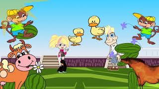 Funny English learning song & animation & nursery rhymes & video for kids, babies, children bay