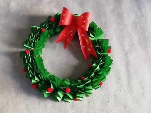 Basteln für Weihnachten. Weihnachtskranz / Weihnachtstürkranz Deko Ideen