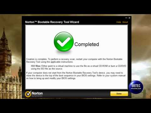 Create a Bootable ISO With Norton Bootable Recovery Tool by Britec