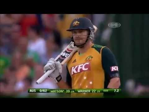 Shane Watson hits 26 runs in 6 balls