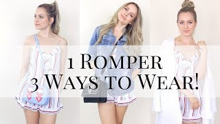 1 Summer Romper 3 Ways to Wear it - KayleyMelissa
