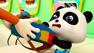 Panda Kiki Can't Get His Bag | Magical Chinese Characters | Kids Cartoon | Nursery Rhymes | BabyBus