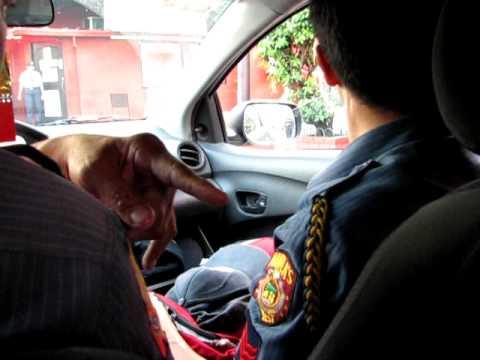 Manila police car ride