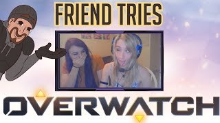Teaching my Non-Gamer Friend How To Play Overwatch (with Facecam)
