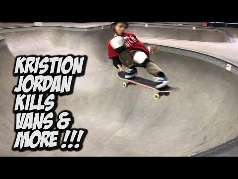 KRISTION JORDAN KILLS VANS SKATE PARK !!! - NKA VIDS -