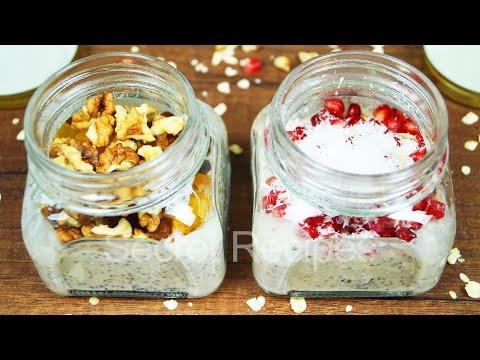Ночная овсянка в банке. Простые завтраки | Overnight oats