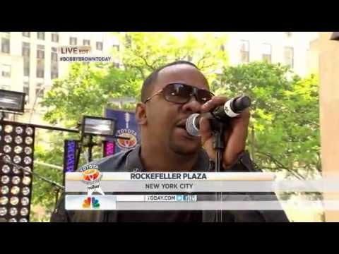 "Bobby Brown performs ""Don't Let Me Die"" live on Today Show at Rockefeller plaza"