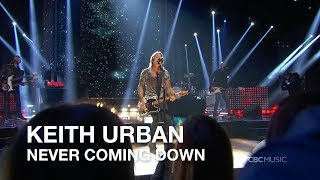 Keith Urban Never Coming Down 2018 Ccma Awards