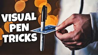3 VISUAL Pen Magic Tricks ANYONE Can Do REVEALED