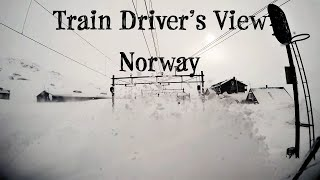 "Train Driver's View: ""Stormy"" winter conditions on the mountainpass (Bergen Line, Norway)"