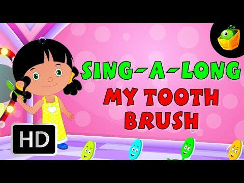 Karaoke: My Tooth Brush - Songs With Lyrics - Cartoon animated Rhymes For Kids video