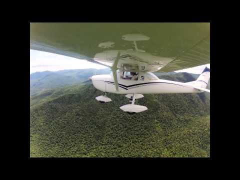 SLK - BTV Cessna 150 Time Lapse Saranac Lake, NY Burlington, VT