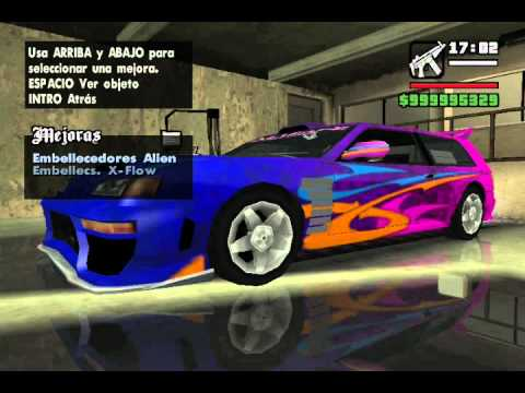 Como Modificar Autos En Gta San Andreas (Sin Mod)