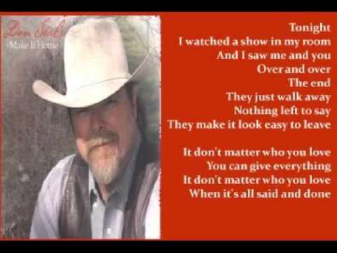 Dan Seals - It Don't Matter Who You Love ( + lyrics 2002)