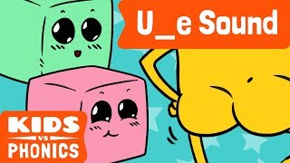 U_E | Fun Phonics | How to Read | Magic E | Made by Kids vs Phonics