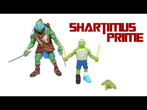 Ninja Turtles 2014 Leonardo Toy Evolution 3 Pack Movie Action Figure Review