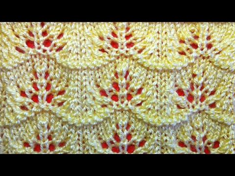 Ажурное вязание спицами видео для начинающих