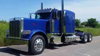 BRILLIANT BLUE FLATTOP 2016 PETERBILT 389