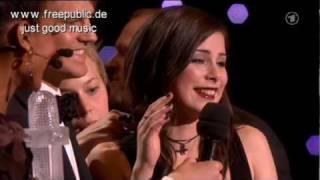 Siegerauftritt Lena Eurovision Song Contest Oslo 2010 mit dem Song Satellite