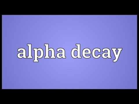 Header of Alpha Decay