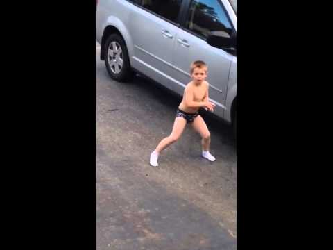 Dancing Driveway Underwear Boy video